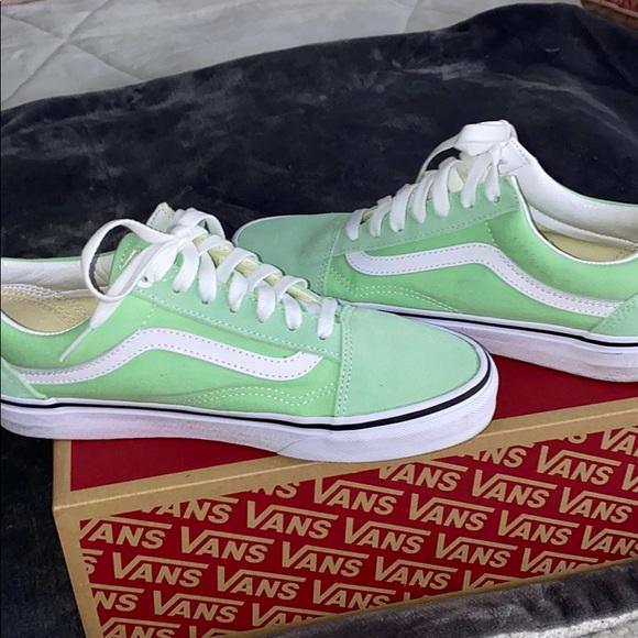 Vans Shoes   Mint Green Vans   Poshmark